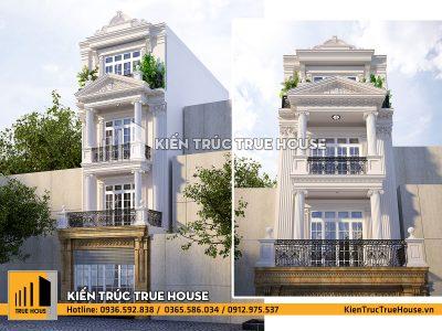 Nhà lô phố 4 tầng kiểu pháp đẹp thp006