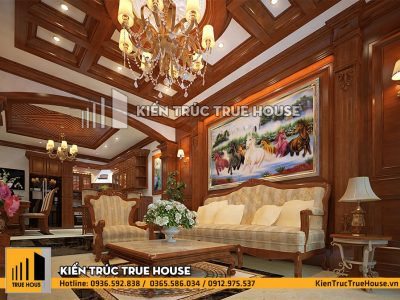 Phòng khách gỗ đẹp