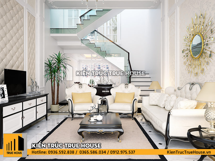 Phòng khách kiểu pháp đẹp