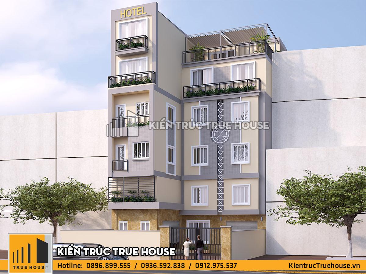 Cải tạo nhà nghỉ 6 tầng thk 003