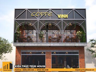 Thiet ke quan cafe 2 tang kien truc hien dai noi that dep tai Thuy Nguyen Hai Phong